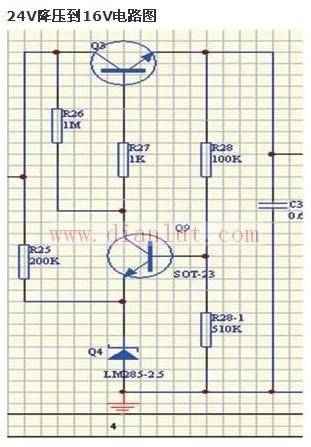 就是dc-dc的电源电路图,要求输入12v,输出6v.
