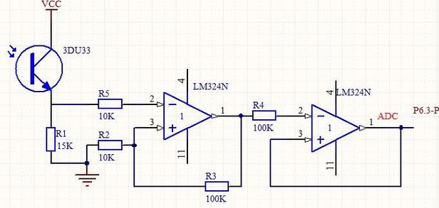 用的是3du33光敏三极管 展开  1个回答