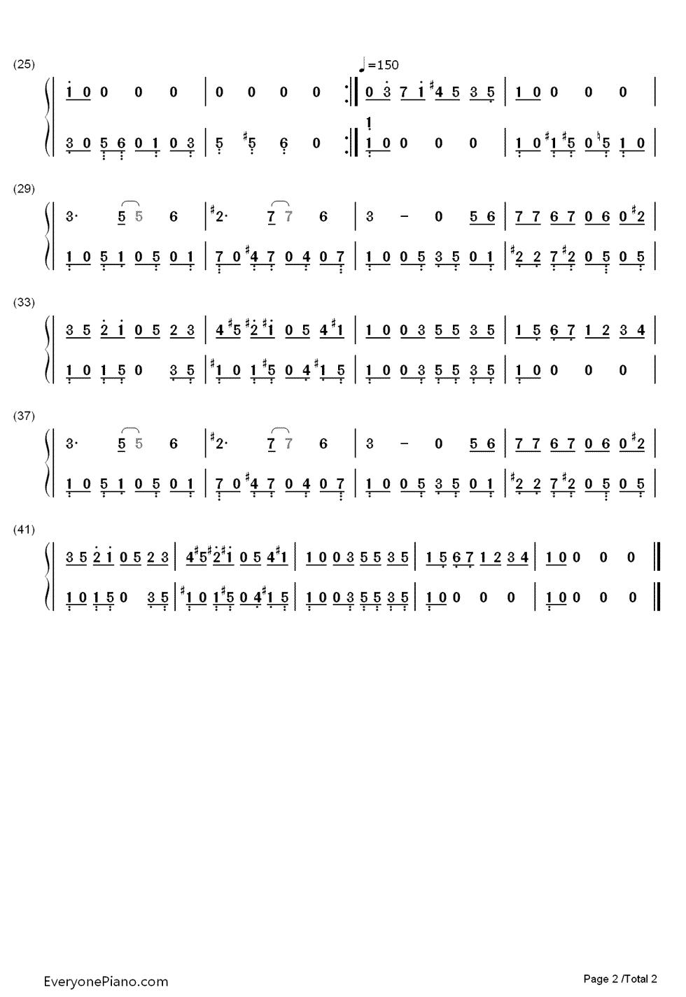 求冒险岛bgm的钢琴简谱(双手)
