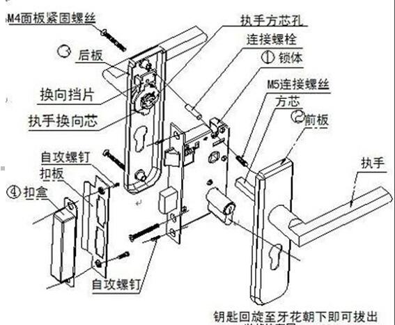 房屋门锁的构造和拆卸方法