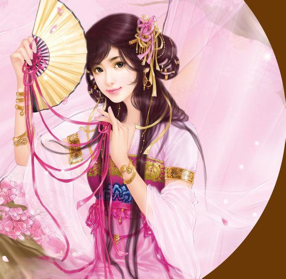 古装手绘唯美女孩壁纸