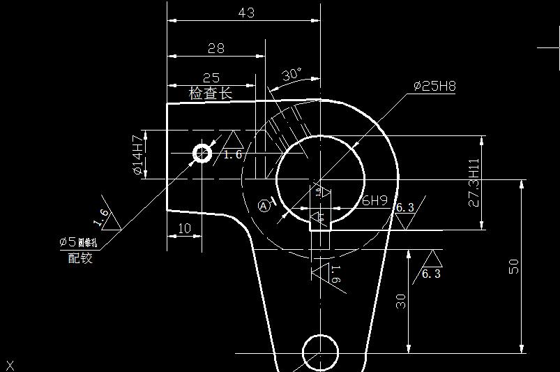 速求:课设 钻铰ca6140车床手柄座Φ14h7夹具图.