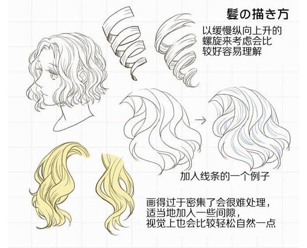 美少女的头发怎么画
