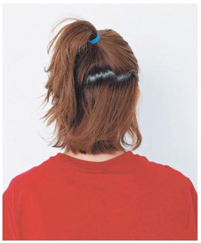 短发怎么扎丸子头 好看短发丸子头扎法图解教程图片