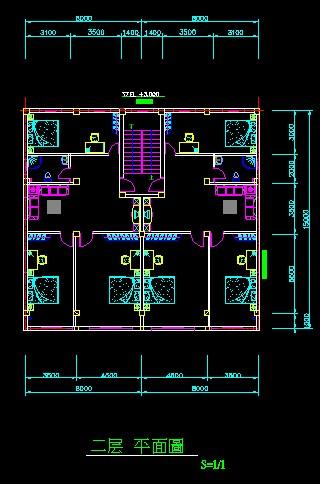 农村建房子求设计图,宽14米,长15米, 一厅三房,卫生间,楼梯,请求高手