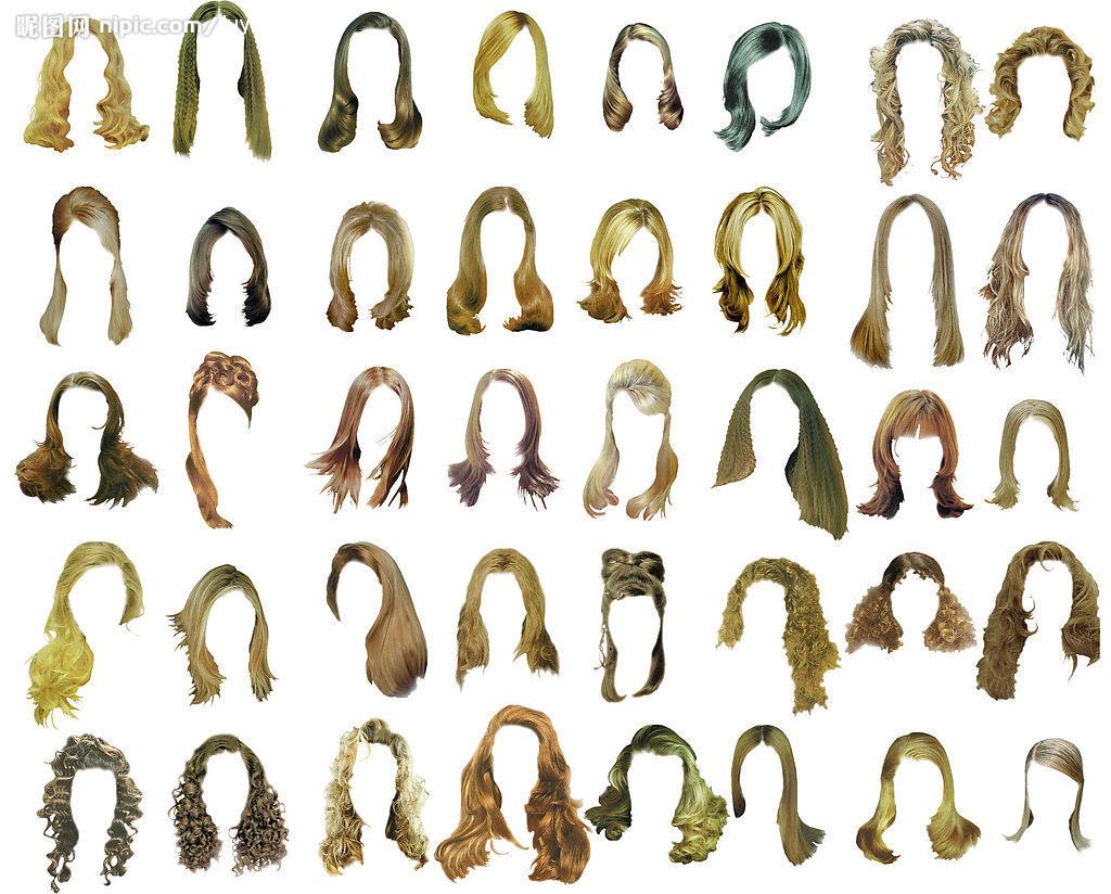 求ps头发素材,要白底或免扣的图片
