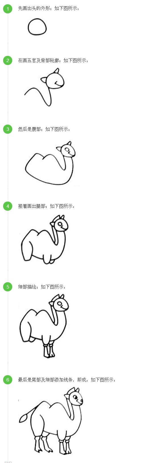 骆驼的简笔画,怎样才能使它最大.