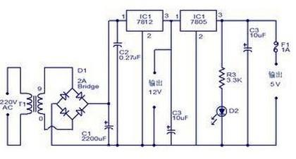 12v转5v电路图