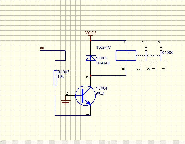 继电器前端驱动 电路 三极管9013不是处于截止状态吗