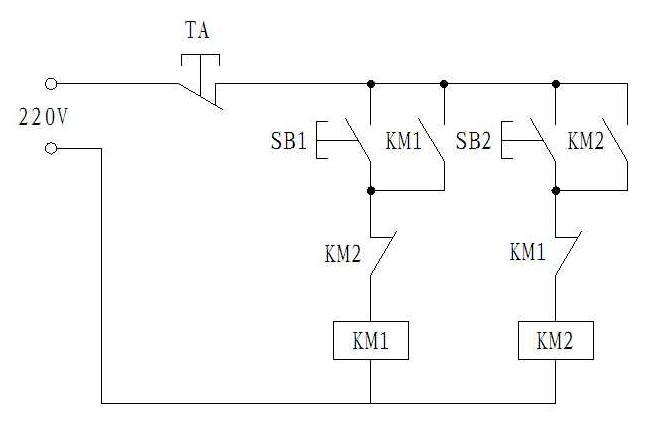 cj1201交流接触器怎么串联来控制电机的正反转
