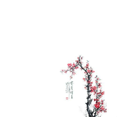 求古风签素材:背景,边框,水墨,树木花草,人物,花纹,诗词,古风,溶图