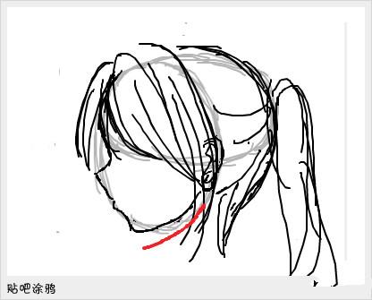 侧面脸怎么画
