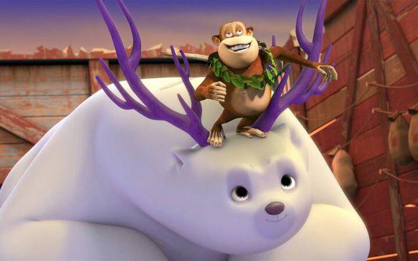 《熊出没之雪岭熊风》中的大白熊团子可爱的照片有吗?