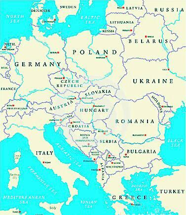 像下面这样,但要欧洲这么大的,国家要清晰,最好从谷歌地图这些软件