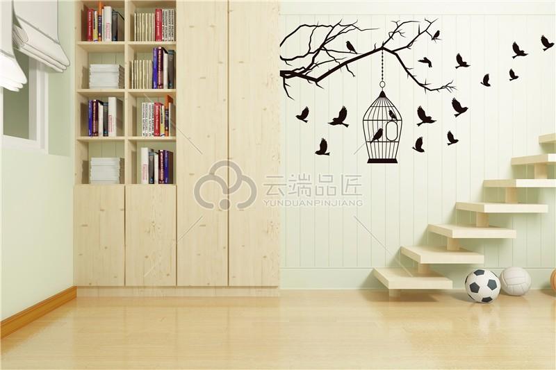 楼梯墙画用什么比较好