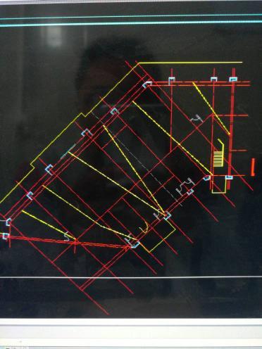 用cad看复制图,轴号与图形线中和不出来了,之cad尺寸不能v图形图删除建筑显示图片