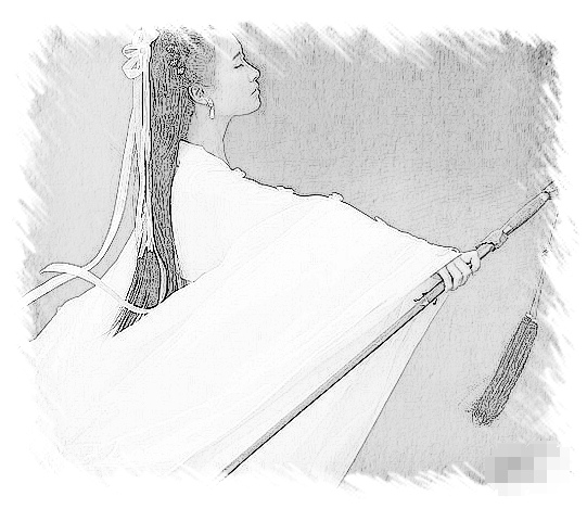 急急急~~~求手繪古裝白衣女子.