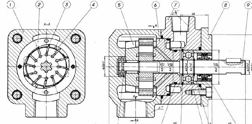 叶片泵的结构零件名称