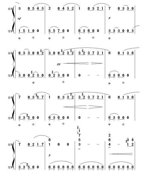 请高手帮我把钢琴曲《献给爱丽丝》的五线谱翻译成简谱,拜托了``我找