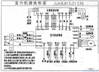 长虹空调室外机接线图