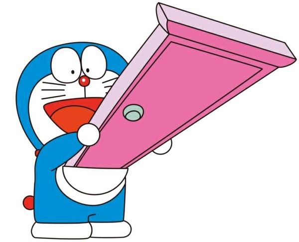 在《哆啦a梦》中,哆啦a梦的任意门是什么颜色的