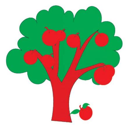 树的简笔画有哪些带颜色的