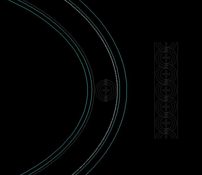 一个圆形拼花怎么跟随椭圆路径阵列?