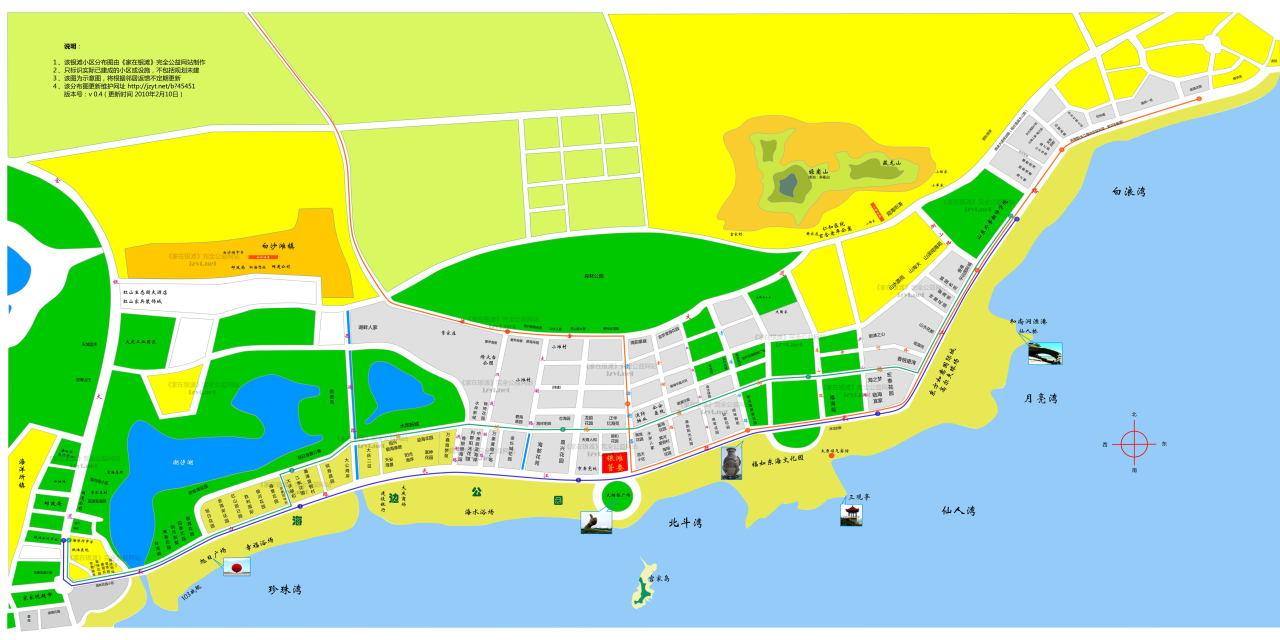 想知道: 威海市 乳山银滩海景房全景地图