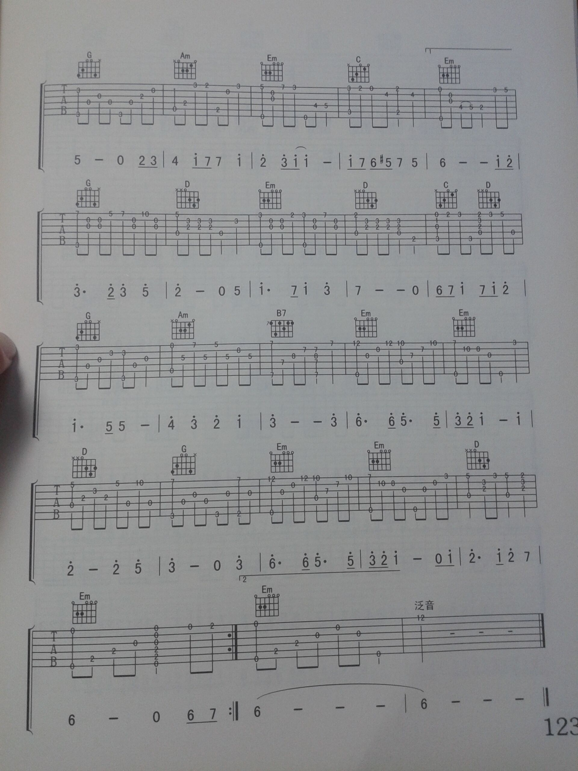 吉他谱天空之城的