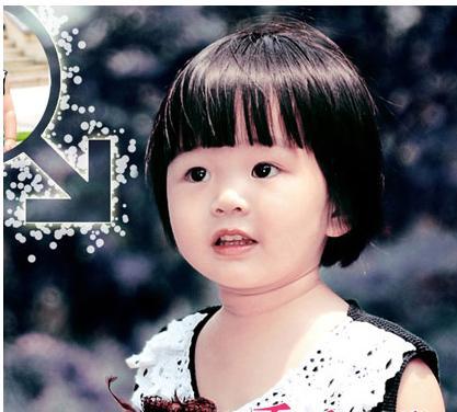 儿童短发发型一般就是比较可爱类型的,在小女孩中短发发型不仅是一种