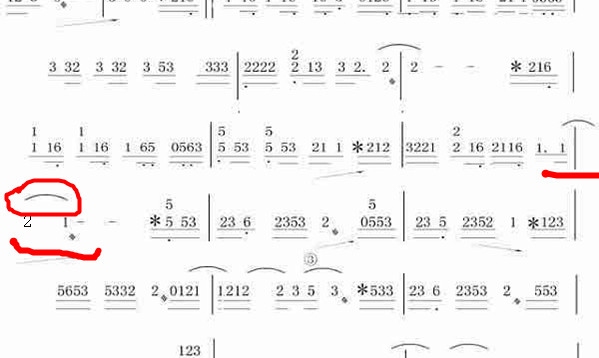 古筝曲谱怎么看