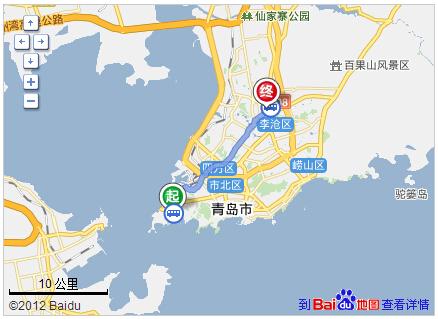 青岛火车站到李村多远?