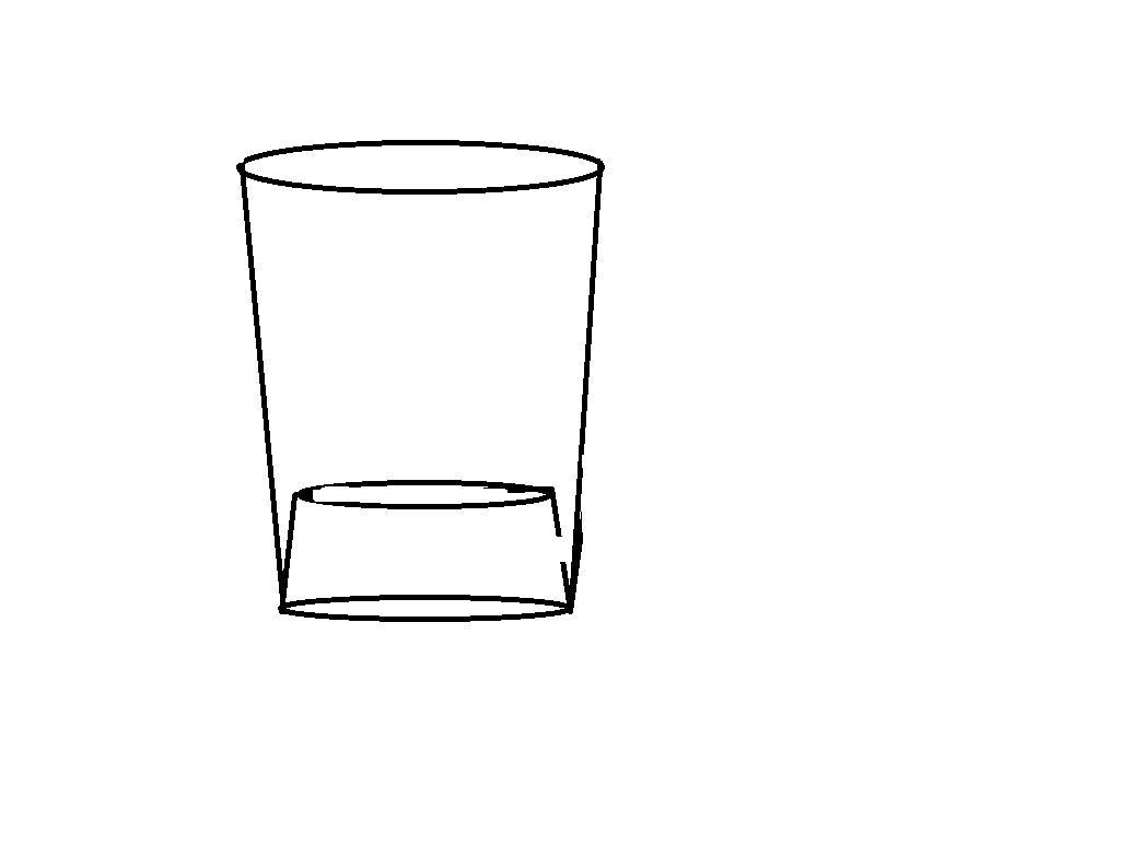 一杯水简笔画步骤