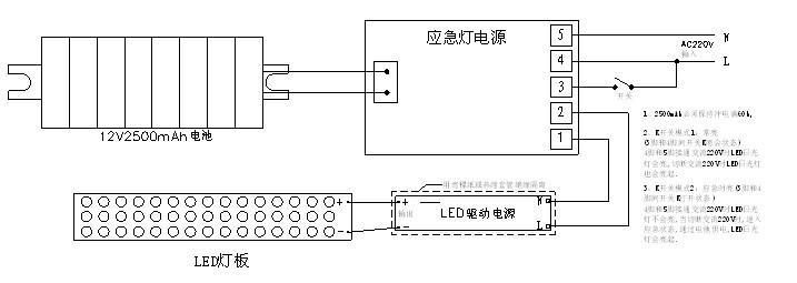 应急灯 应急装置 w-36w日光灯应急电源 yf-z102的接线