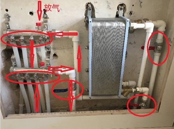 第一次用地暖,这些开关都是管什么的,要怎么操作?图片