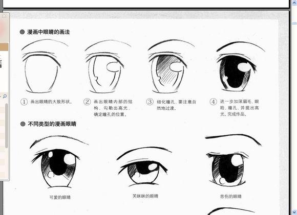 美人图眼珠子怎么画图片