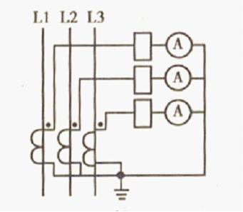 求三块电流表和电流互感器接线图