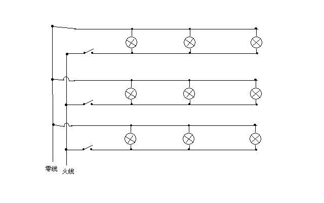 初三物理:教室的灯的连接电路图