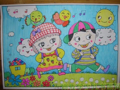 哪里有有创意的儿童画作品?