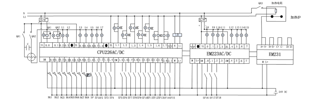 西门子plc控制直流电机接线图