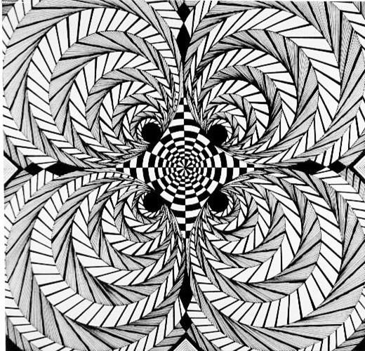 线的平面构成形式: 线是点移动的轨迹.图片