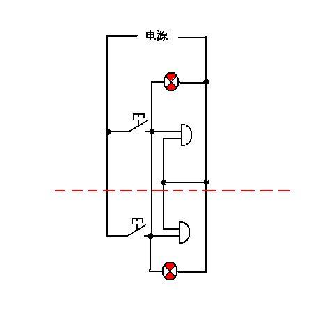 绞车信号电路图 要求是井下一个电铃一个指示灯一个开关按钮 地面一个