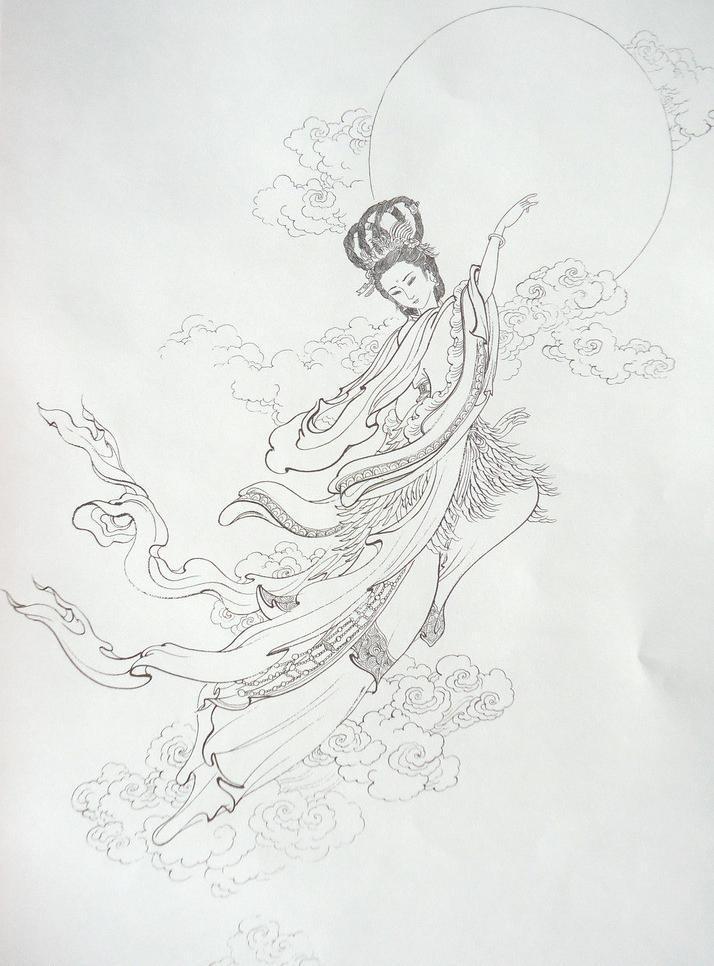 嫦娥动漫图片手绘