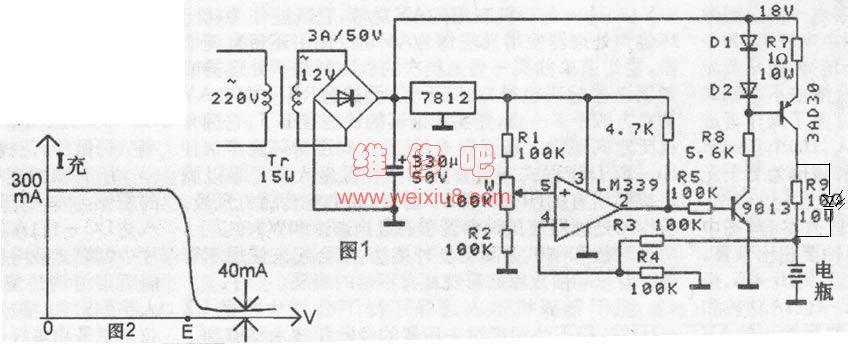 求,12v充电器,充满自停电路图,细节图,要求标明每个件