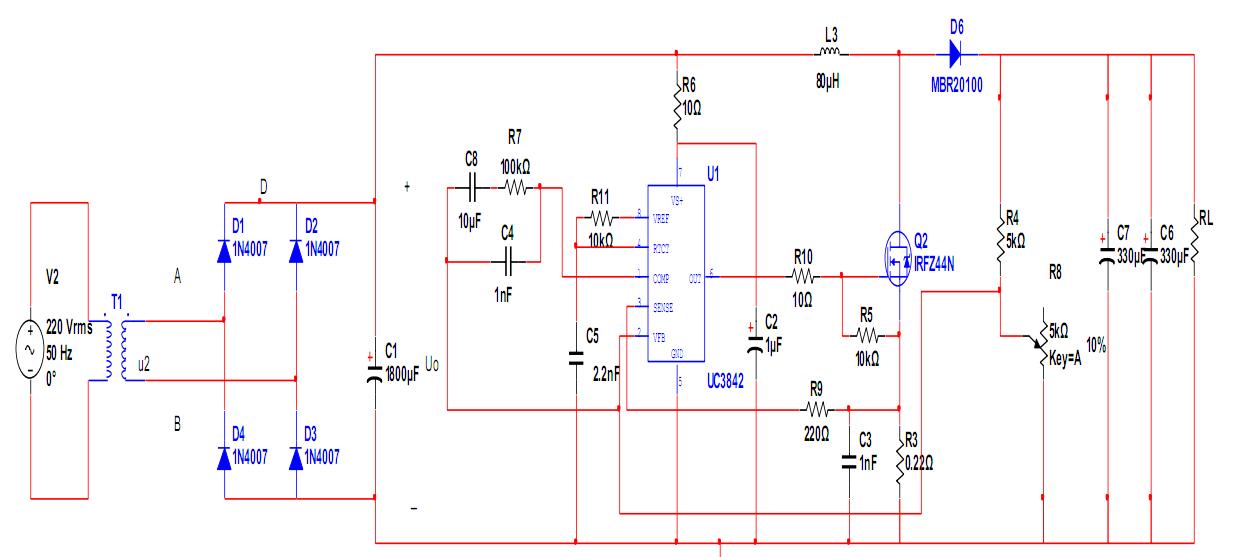 各位开关电源高手能否帮我分析一下,我这个uc3842开关电源电路图?