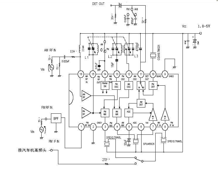 fm调频收音机的电路图