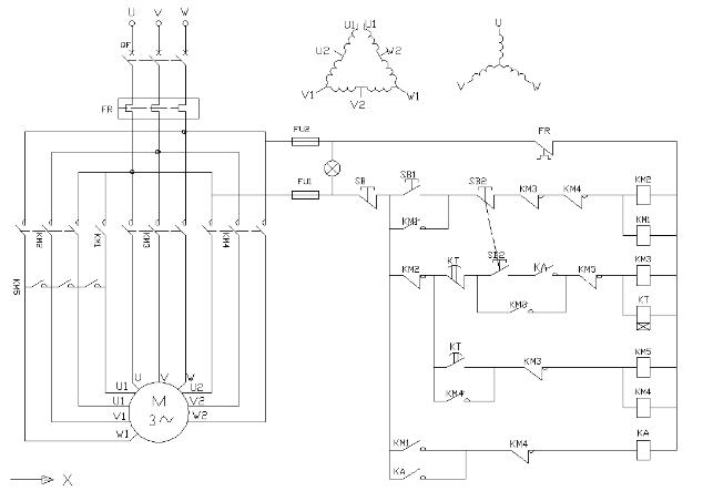 三相异步电动机调速的原理接线图