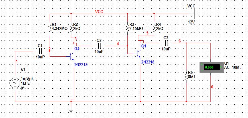 请问为什么模电设计的三极管电压放大器在从开始模拟,电压表数值会变