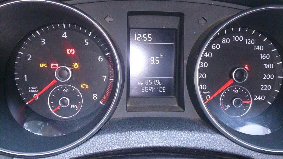 福特全顺汽车仪表盘的扳手灯怎么关闭