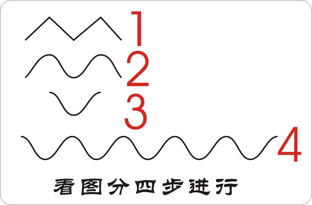 在coreldraw x4 sp2 精简版中能画波浪线吗?如何画?图片
